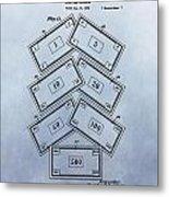 Monopoly Money Patent Metal Print