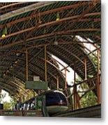 Monorail Depot Disneyland 01 Metal Print