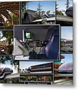 Monorail Disneyland Collage Metal Print