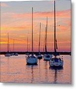Monroe Harbor Sunrise Metal Print