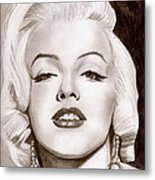 Monroe Metal Print by Michael Mestas