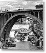 Monroe St Bridge Of Spokane Metal Print
