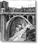 Monroe Street Bridge Iced Over - Spokane Washington Metal Print by Daniel Hagerman