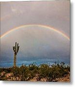 Monsoon Double Rainbow Metal Print