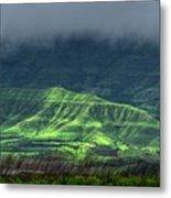 Monsoon Over Mountains Metal Print