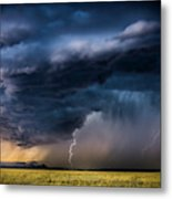 Monsoon Storm With A Multiple Lightning Metal Print