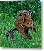 Monster In The Grass Metal Print