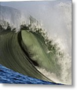 Monster Surf At Mavericks Point In Half Moon Bay California Metal Print