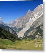 mont Blanc from Ferret valley Metal Print