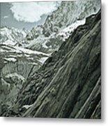 Mont Blanc Glacier Metal Print