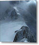 Mont Blanc Storm Metal Print