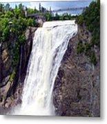 Mont Morency Falls Metal Print