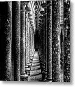 Mont St Michel Pillars Metal Print