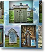 Montage Of Outhouses Metal Print