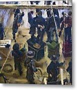 Montana Justice   January 14 1864 Metal Print