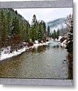 Montana Winter Frame Metal Print