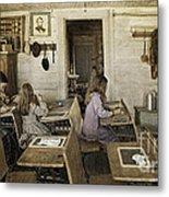 Montana's Oldest Standing Schoolhouse Metal Print
