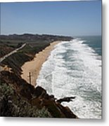 Montara State Beach Pacific Coast Highway California 5d22624 Metal Print by Wingsdomain Art and Photography