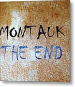Montauk-the End Metal Print