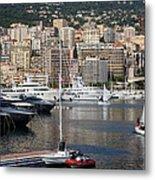 Monte Carlo Sailing - Monaco French Riviera Metal Print