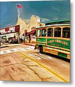 Monterey And Cable Car Bus Metal Print