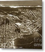 Aerial Of Monterey And Pacific Grove  California Oct. 25 1934 Metal Print