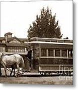 Monterey And Pacific Grove Street Railway Circa 1895 Metal Print