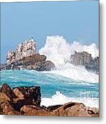 Monterey Bay Waves Metal Print
