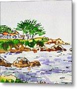 Monterey- California Sketchbook Project Metal Print