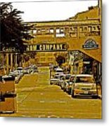 Monterey Cannery Row Company Metal Print