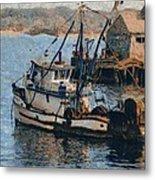 Monterey Fish Company Abstract Metal Print