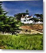 Monterey Lighthouse Metal Print