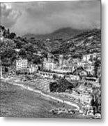 Monterosso Al Mare - Cinque Terre In Grey Metal Print