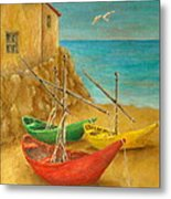 Monterosso On Riviera Di Levante Metal Print