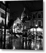 Montmartre Black And White W  Metal Print