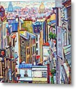 Montmartre View Metal Print