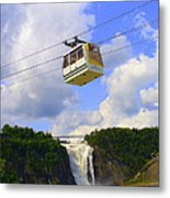 Montmorency Falls And Gondola Metal Print