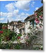 French Hilltop Terraces Metal Print by France  Art