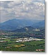 Montorfano. A View To Lake Iseo Metal Print