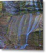 Montour Falls Fall Panorama Metal Print