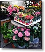 Montpellier Flower Shop Metal Print