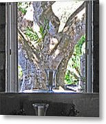 Montpellier Shades Of Grey Metal Print
