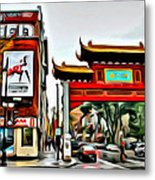 Montreal China Town Metal Print