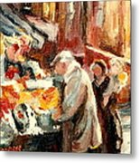 Montreal Market Scene Marche Atwater Metal Print
