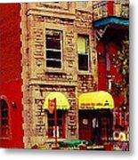 Montreal Memories Restaurant Chez Orphee 362 Fairmount Cb Spandau Montreal Premier City Scene Artist Metal Print