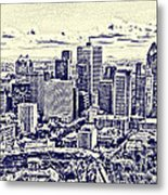 Montreal Skyline From Mount Royal Two Metal Print
