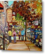 Montreal Streetscenes By Cityscene Artist Carole Spandau Over 500 Montreal Canvas Prints To Choose  Metal Print