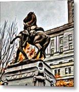 Montreal War Horse Metal Print