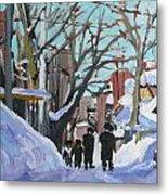 Montreal Winter Mile End Shabbat Metal Print