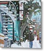 Montreal Winter Scene Mile End Metal Print